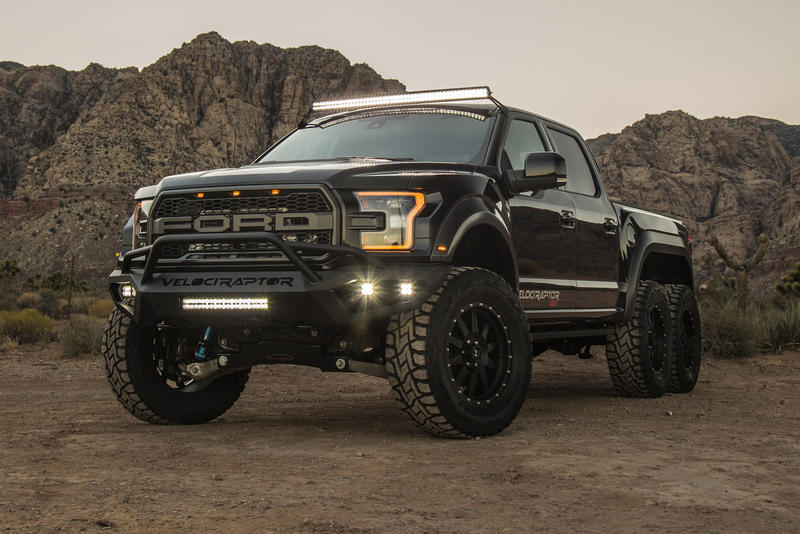 Hennessey VelociRaptor 6x6 truck high performance ford off-road v6 engine suspension 3 axels raptor car vehicle wheels f-150