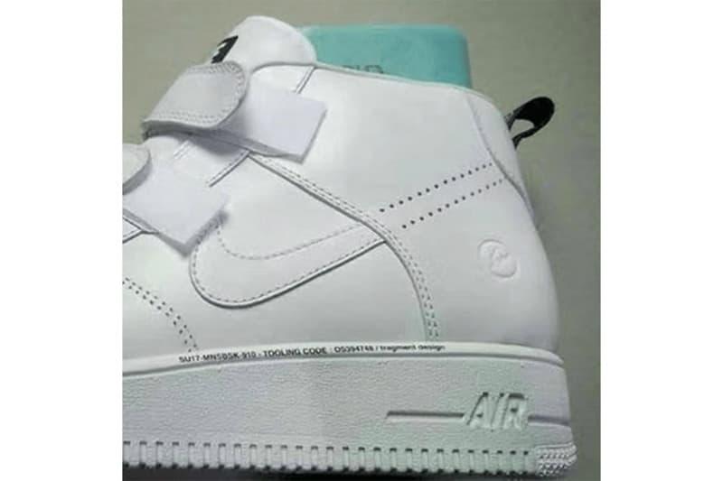 Hiroshi Fujiwara Nike Air Force 1 Fragment Design Strap White Hightops