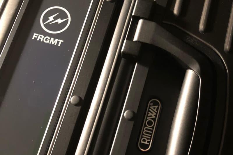 Hiroshi Fujiwara fragment design RIMOWA Collaboration Black Suitcase Luggage