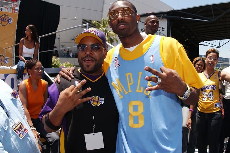 Ice Cube Kobe Bryant Tribute The Players Tribune Los Angeles Lakers LA NBA 8 24 Black Mamba Jersey Retirement Frobe
