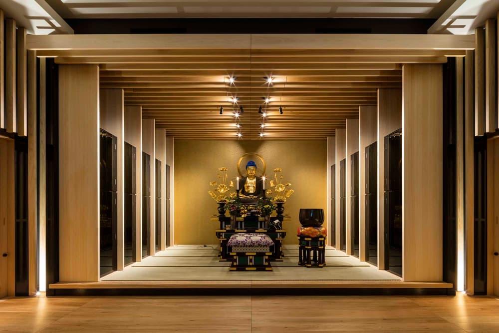 Ihaidō Kōrin-ji Buddhist Temple Japan buddhism religion mountain architecture wood light design tablet memorial scriptures