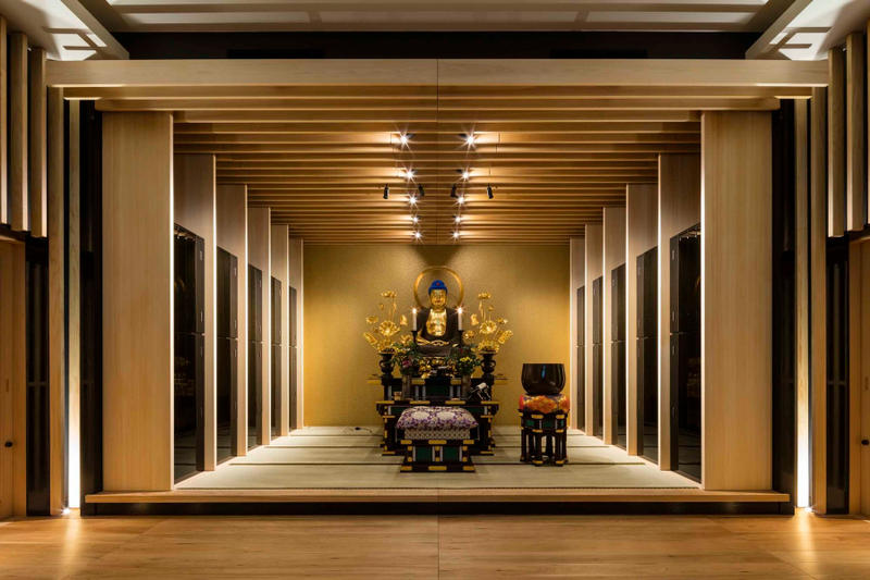 Ihaidō Kōrin-ji Buddhist Temple Japan buddhism religion mountain architecture wood light design tablet memorial scriptures
