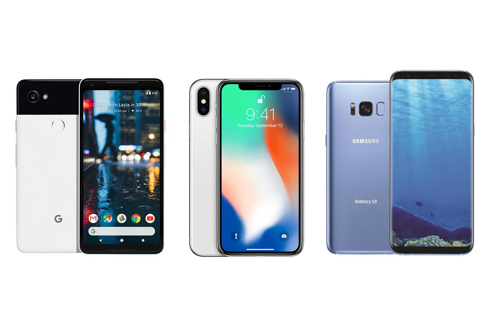 Apple Lg Samsung Iphone X Samsung Galaxy S8 Essential Phone Smartphones Android Lte Axion M Foldable