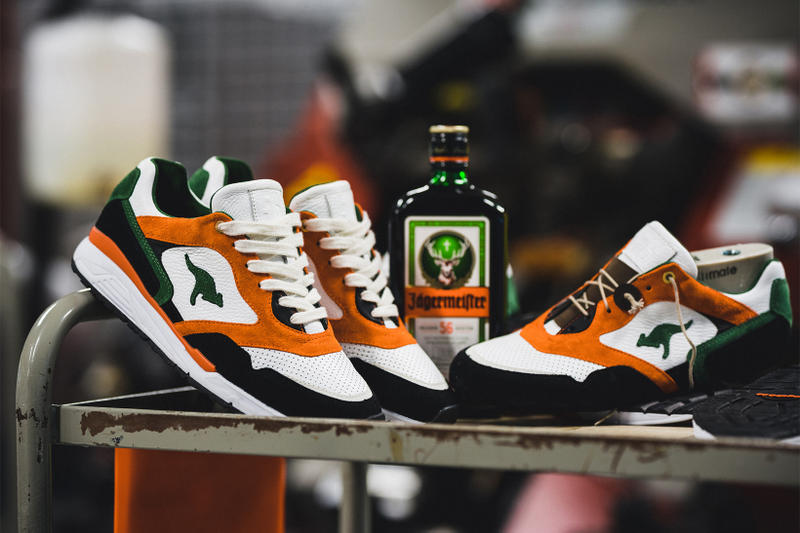 Jagermeister KangaROOS Collaboration 2017 December 12 Release Date Info Sneakers Shoes Footwear white orange green black