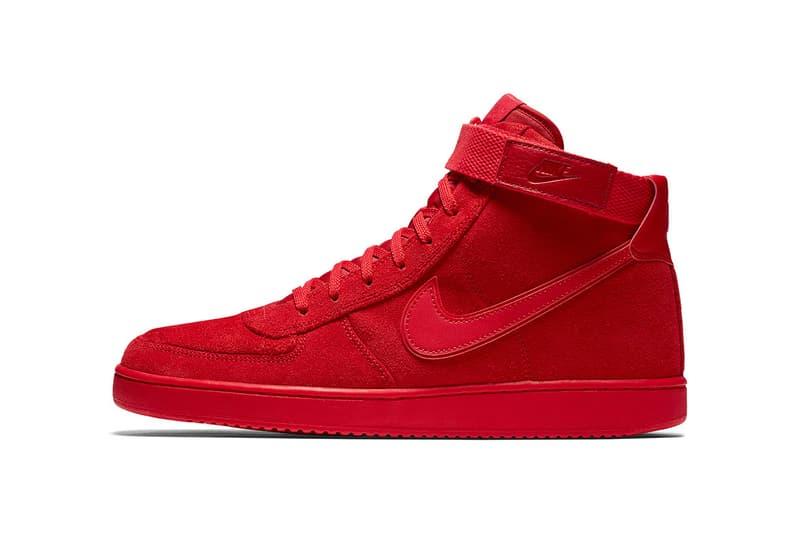 super popular 4516d d12b3 John Elliott NikeLab Vandal High Tonal Pack White Black Red Leather Suede  2017 December 2018 January
