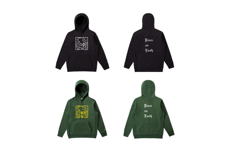 Keith Haring Noah Peace on Earth Hoodie Save The Children Black Green Mother and Child 2017 December 14 Release Date Info