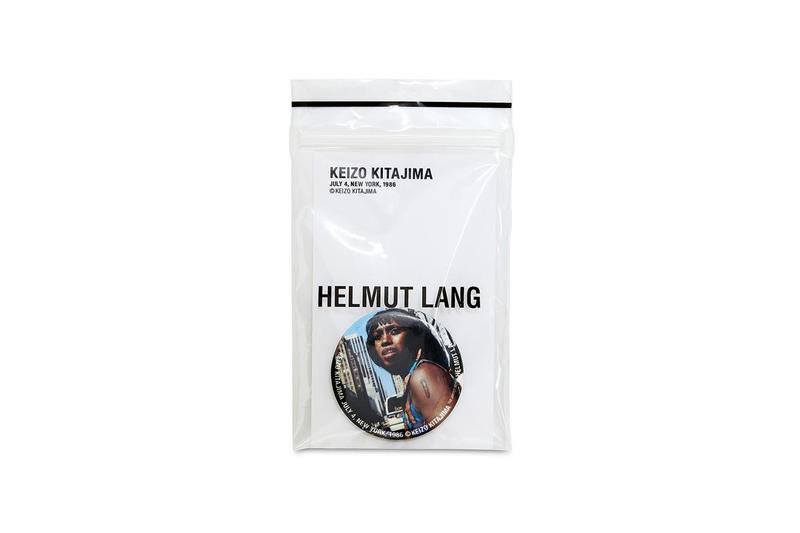 Keizo Kitajima Helmut Lang Artist Series 2017 December release date Info street photography new york t-shirt shirts poster pin