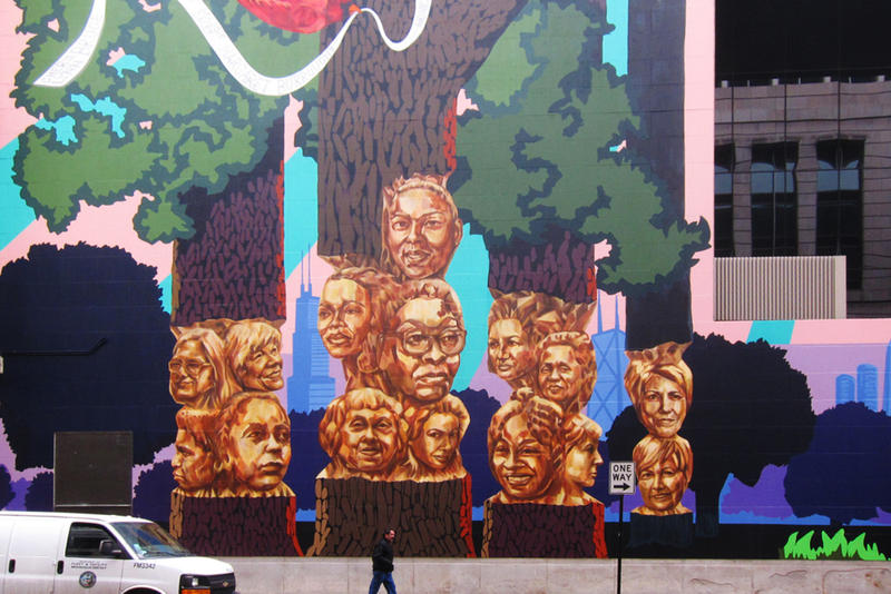 Kerry James Marshall Mural Public Artwork Chicago Cultural Center