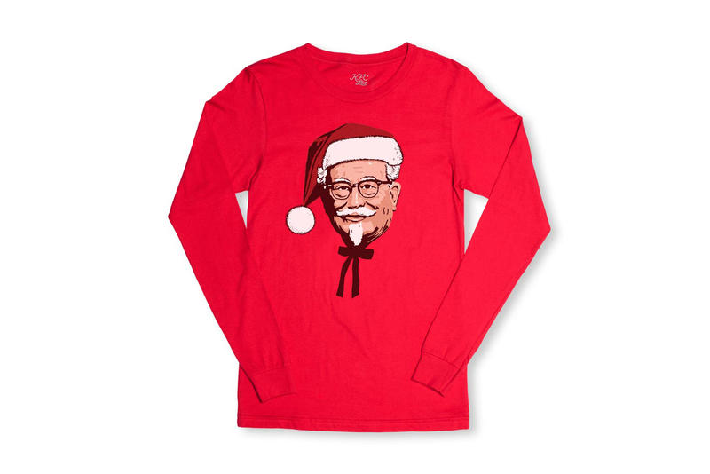 KFC Christmas Pillows Shirts Cap Pins Stickers Prints