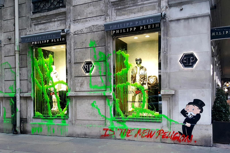 Kidult Vandalizes Philipp Plein Paris Flagship Graffiti