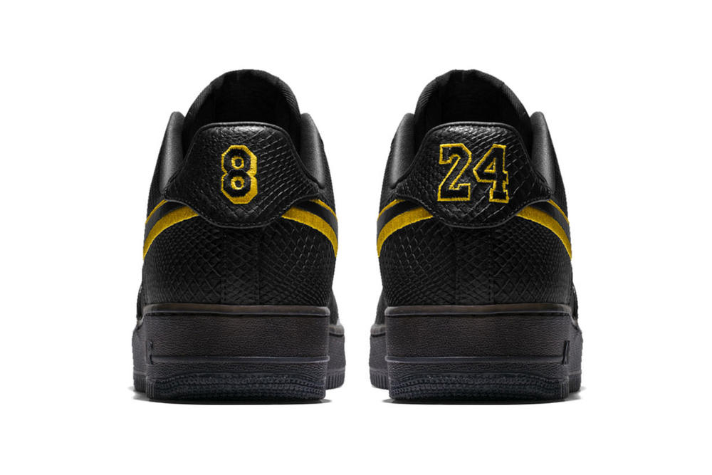 Kobe Bryant Nike Black Mamba Air Force 1 Low T Shirts Black Los Angeles Lakers LA 2017 December 18 Release Date Info Sneakers Shoes Footwear Jersey Retirement Retired 8 24