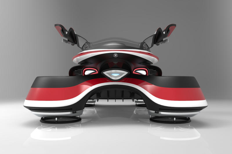 Lazzarini Design Studio Hover Coupé Flying Car design concept