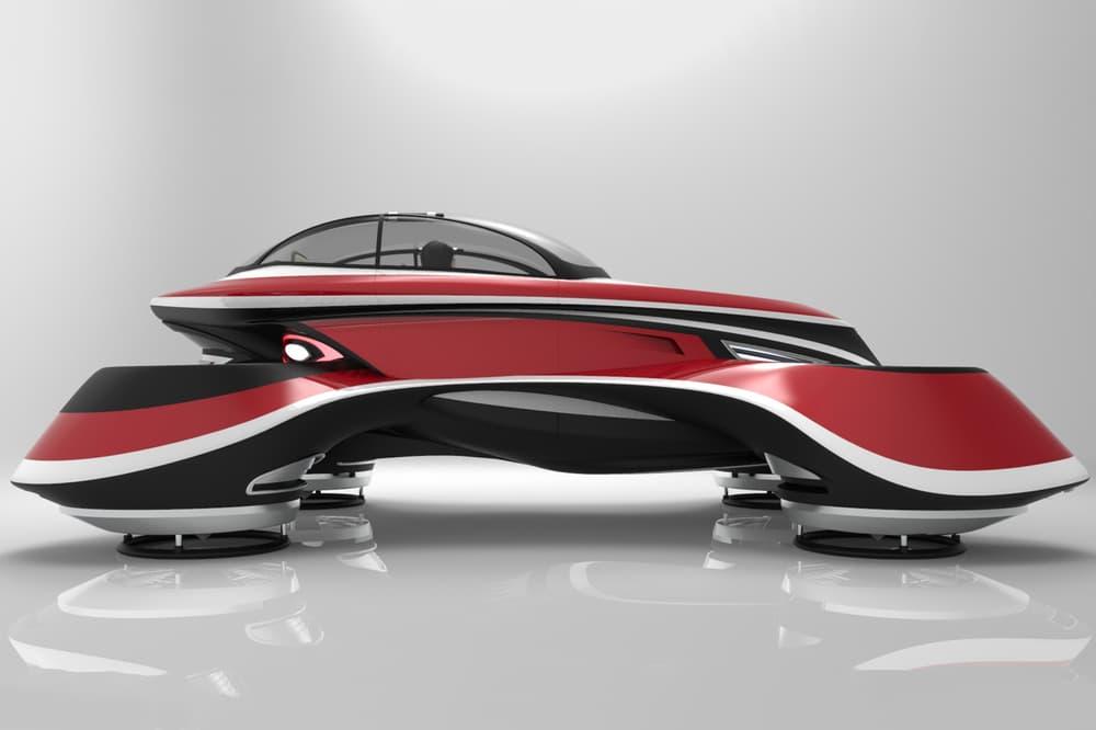 Lazzarini Design Studio Hover Coupé Flying Car design concept