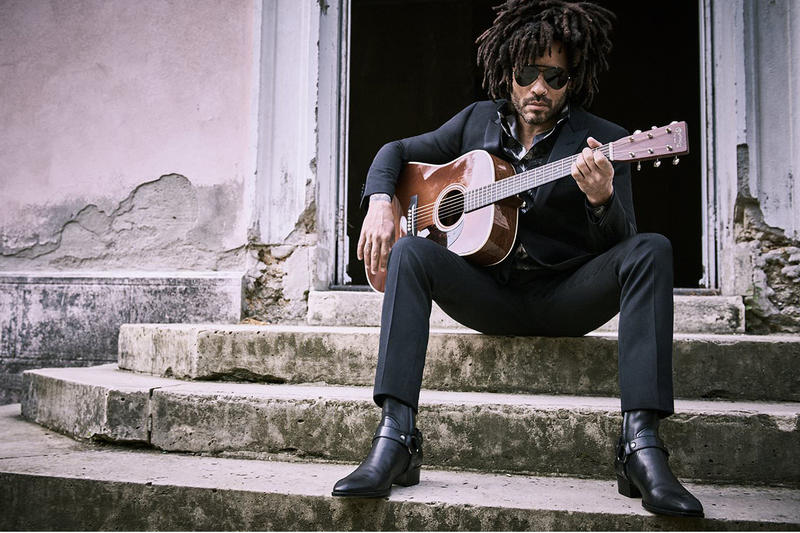 Lenny Kravitz MR PORTER Editorial guitar sunglgasses saint laurent hadier ackermann