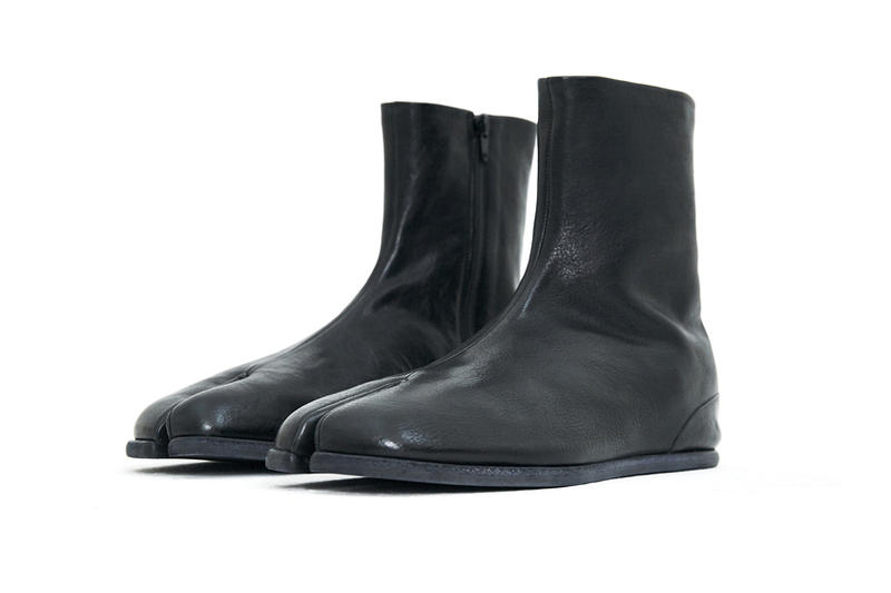 Maison Margiela Tabi Ankle Boot Spring Summer 2018 Black Leather