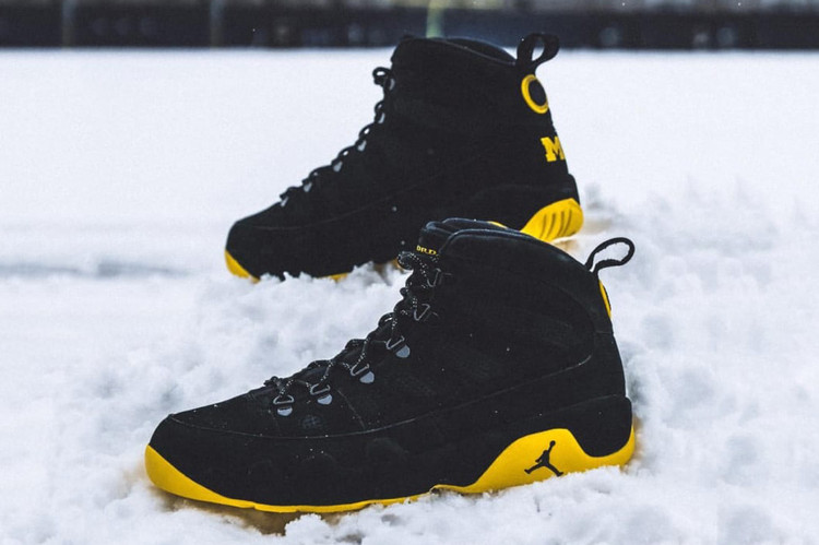c086a7fa4386 Michigan Wolverines Receive an Exclusive Air Jordan 9 Boot NRG