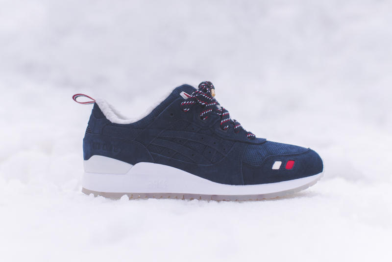 KITH x Moncler ASICS GEL Lyte III Red, Beige, Blue