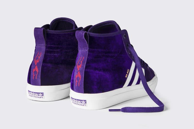 Na Kel Smith adidas Skateboarding Matchcourt High RX Purple 2017 December 15 Release Date Info Sneakers Shoes Footwear