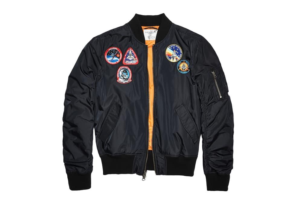 NASA PacSun Holiday Capsule lookbook Buzz Aldrin Foundation Hoodies MA-1 flight bomber jacket t-shirts