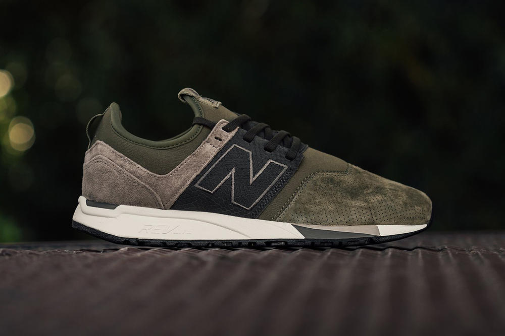 New Balance 247 Luxe Reptile Sneaker Suede