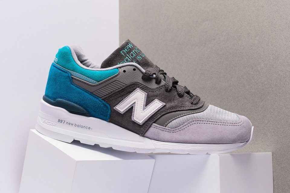8a7940e91802 New Balance 997 Grey Aqua New Colorway