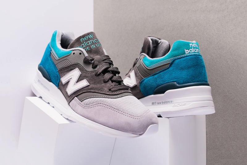 c301b8bcf037 New Balance 997 Grey Aqua New Colorway Suede Buy Purchase Oneness