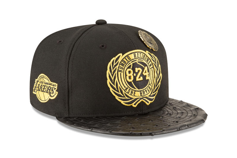New Era Los Angeles Lakers Kobe Bryant Retirement Series Capsule Headwear Fashion Hats Black Mamba Limited Edition