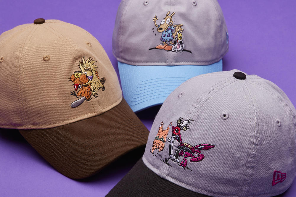 Nickelodeon New Era Hats Collaboration Hey Arnold Rugrats All That Helga Angry Beavers all day ahh real monsters legends of the hidden temple