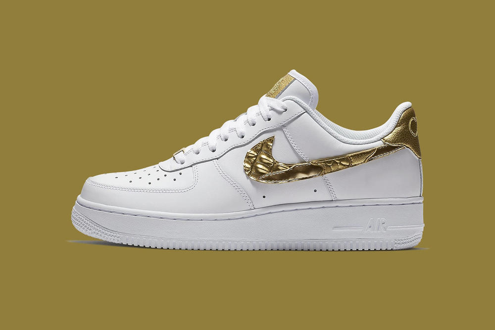 Nike Air Force 1 CR7 Cristiano Ronaldo White Gold 2017 December 7 Release Date Info Sneakers Shoes Footwear