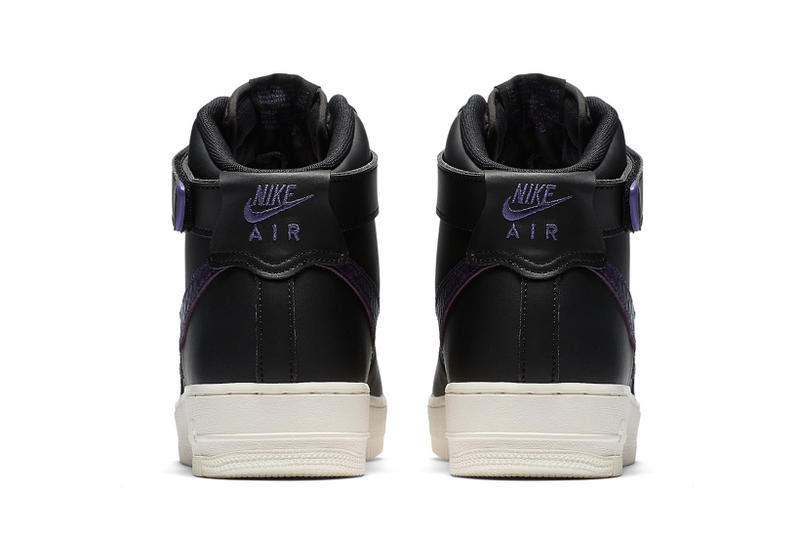 Nike Purple Croc-Skin Big Swoosh Air Force One AF1 Sneakers Shoes Mens