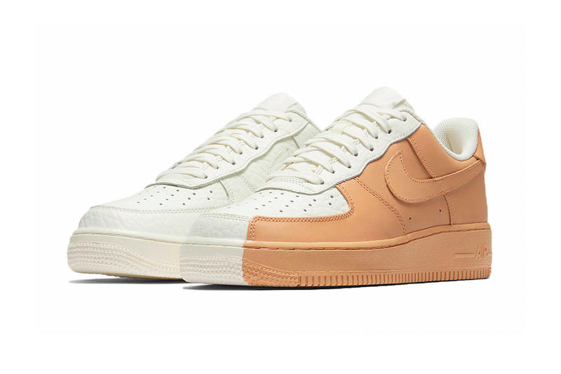official photos 039ed 2c359 Nike Air Force 1 Low Split White Tan Footwear Sneakers