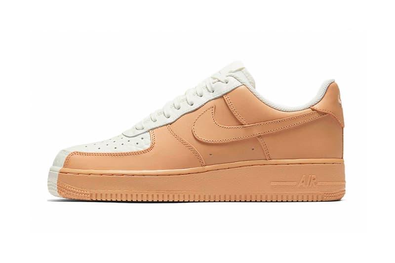 Nike Air Force 1 Low Split White Tan Footwear Sneakers
