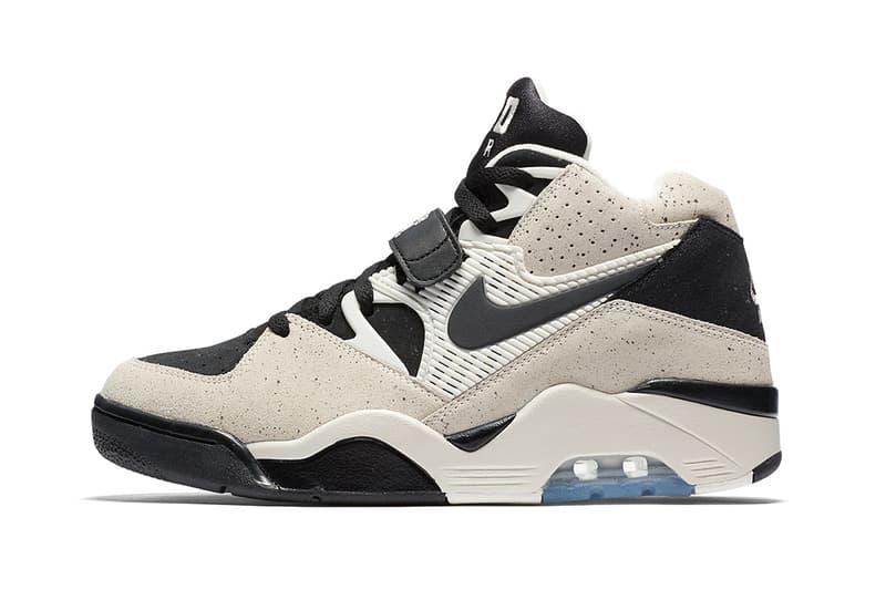 Nike Air Force 180 Khaki Olive basketball sneaker december 2017 icey blue sole translucent beige black