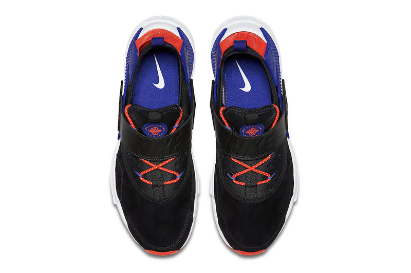 Nike Air Huarache Drift Premium Release Info 2018 sneaker shoe violet rush orange 3m swoosh running lifestyle black white red orange purple blue