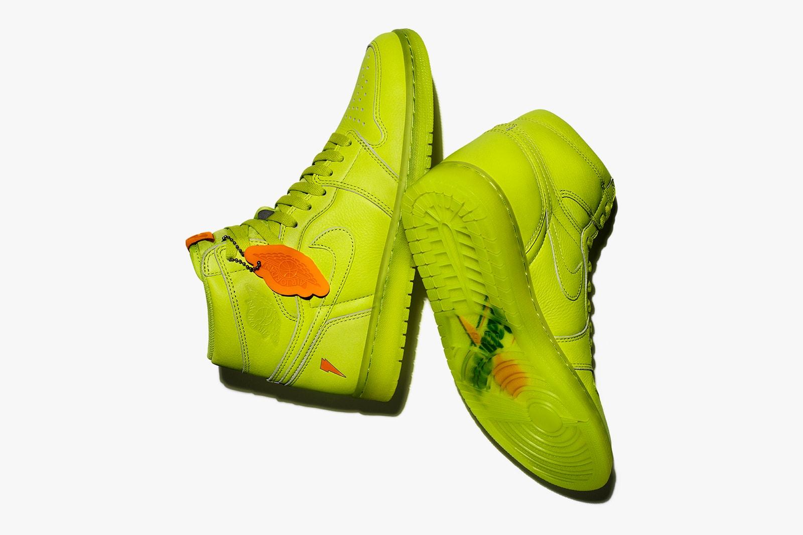 Air Jordan 1 x Gatorade Collection Paris Sneakrs App Neon France