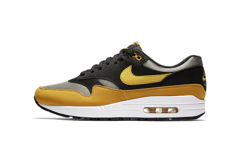 best loved d895e ff230 Nike Air Max 1 Black Yellow 2017 2018 Release Date Info Sneakers Shoes  Footwear