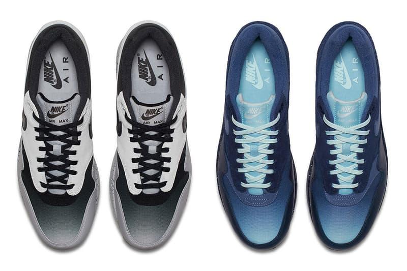 Nike Air Max 1 Premium Gradient Toe Pack Blue Black Grey 2018 Release