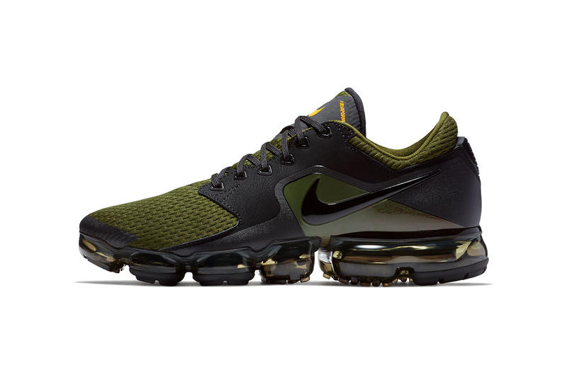 100% authentic 8c33e c141b Nike Air VaporMax CS Olive Green Black orange 2017 2018 Release Date Info  Sneakers Shoes Footwear