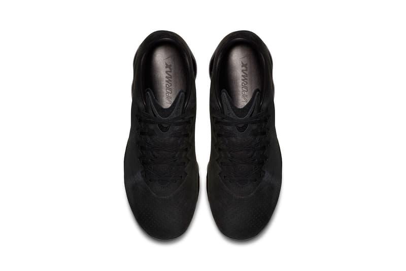 e9e5005ba05faf Nike Air VaporMax Leather LTR Triple Black December 14 Release Date Footwear