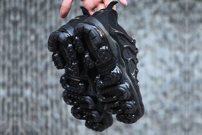 "Nike Air VaporMax Plus ""Triple Black"" preview teaser release date"