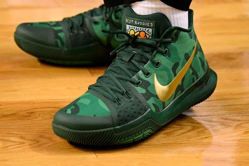 Nike Kryie 3 Green Camo PE Best Buddies