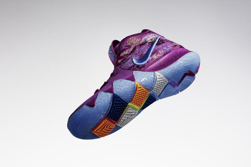 2a3c09ddd45e Nike Kyrie 4 Finally Revealed reveal Irving Basketball footwear sneakers  kicks court black white silver purple