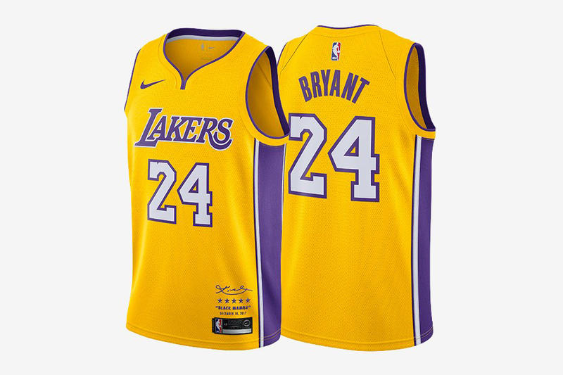 b01cea074eb Nike Lakers Kobe Bryant Limited Edition Retirement Jerseys NBA Basketball 8  24 524 08 USD Dollars