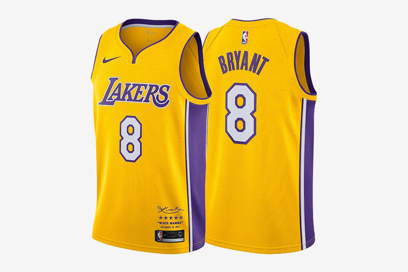 Nike Lakers Kobe Bryant Limited Edition Retirement Jerseys NBA Basketball 8 24 524 08 USD Dollars Los Angeles Black Mamba