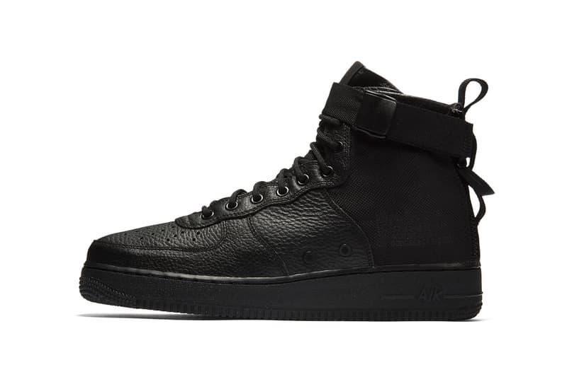 98d39f95001597 Nike SF AF1 Mid Triple Black 2017 2018 Release Date Info Sneakers Shoes  Footwear