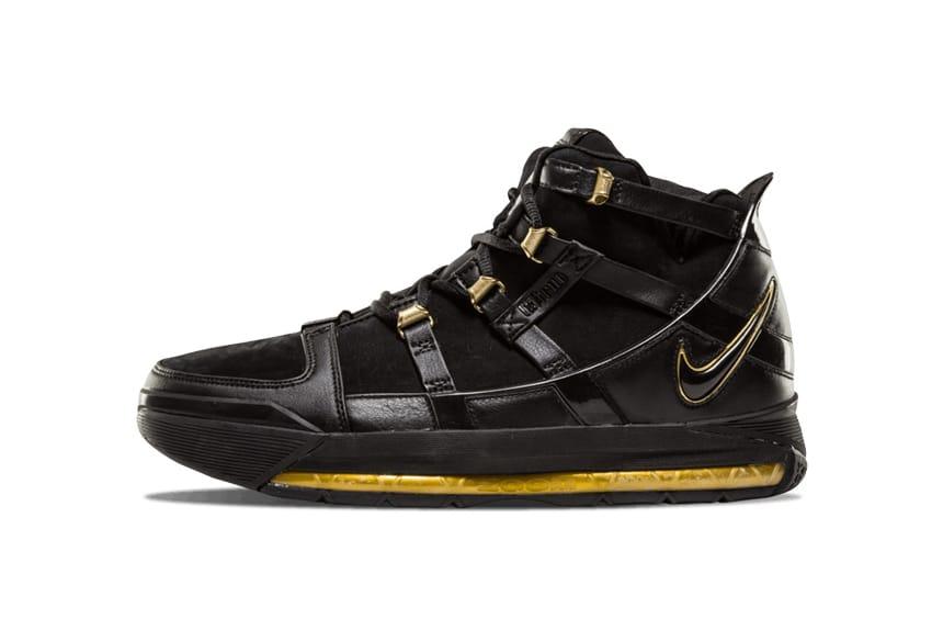 Nike Zoom LeBron 3 Black/Gold 2018