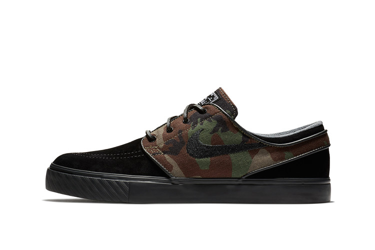 a1084e417e012f Nike s New Zoom SB Stefan Janoski Combines Camo   Black Leather