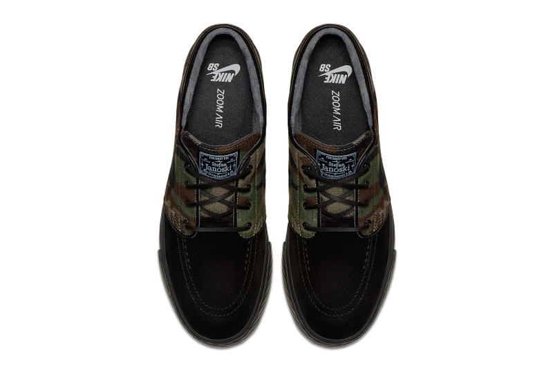 Nike Zoom SB Stefan Janoski Camo Black Leather skateboarding fall 2017 release