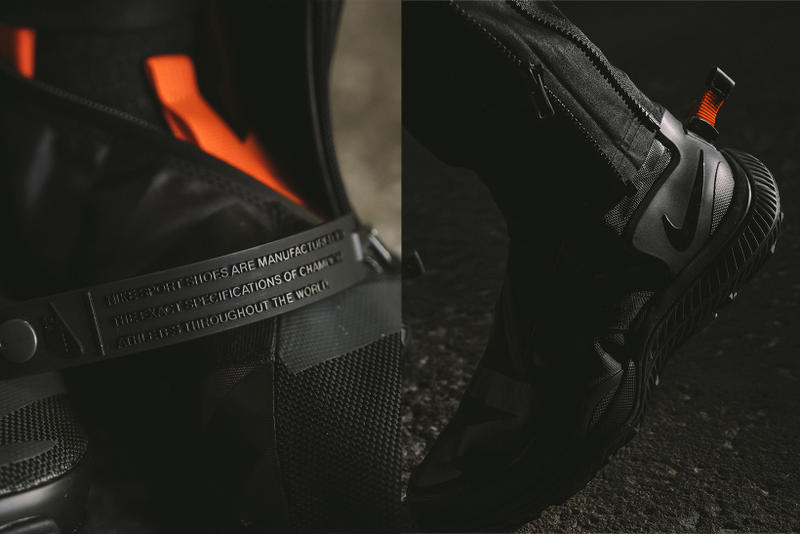 NikeLab ACG Gaiter Boot Closer Look Black 2017 December Release Date Info Sneakers Shoes Footwear Notre Triple Black