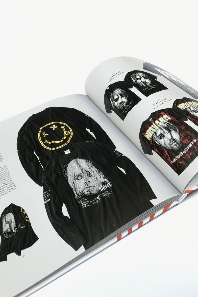 offshore tokyo's Vintage Nirvana T-Shirt Book Helloh Kurt Cobain Birthday